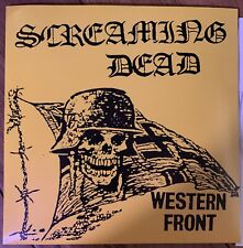 "Screaming Dead – Western Front 7"" ep black Vinyl  Horror Punk 1980s Uk Demo"