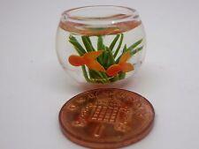 PESCE in una ciotola di vetro Dolls House miniatura accessorio ACQUARIO