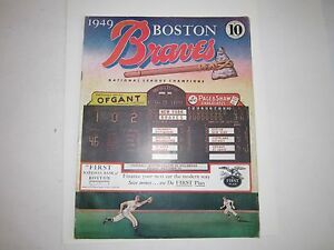 1949 BOSTON BRAVES VS CINCINNATI REDS OFFICIAL PROGRAM - OFC-2