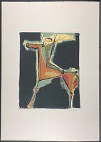 MARINO MARINI * Purple archer * 50 x 70 cm * signed lithograph * limited