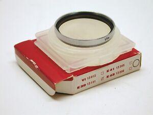 LEICA LEITZ ORIGINAL 39MM UV FILTER..13131..CHROME..CASE..BOX..NOS..NIB..UNUSED