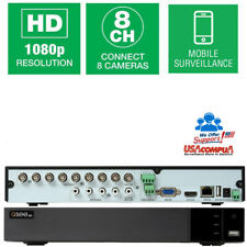 Q-SEE 8CH 4 CH AUDIO IN  DVR QTH98 1080P AHD-TVI-CVI-CBVS (NO Hard Disk)2018