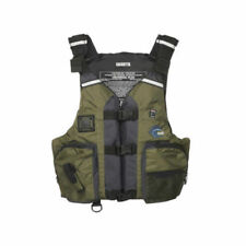 MTI Adventurewear Calcutta Multi-Fit Olive Kayak Angler Fishing Tackle PFD Life Jacket