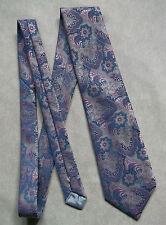 COMMODORE TREVIRA 1960 Psychédélique Tie par Rose Lilas Bleu DANDY mod