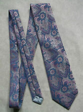 Commodore TREVIRA années 1960 Psychedelic Tie Brillant Rose Lilas Bleu Dandy mod