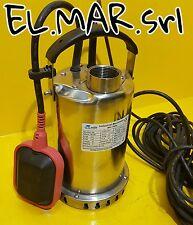 Pompa Sommergibile 0.5 HP Monofase acciaio Inox Elettropompa MATRA svuotamento