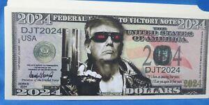 WHOLESALE LOT OF 100 DONALD TRUMP I'LL BE BACK 2024 MONEY novelty President USA
