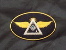 Widows Sons Oval Patch Masonic Motorcycle Iron Sew Freemason Fraternity NEW!