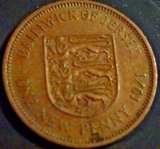 1971 baliato di jersey SCUDO Design 1p Pezzo una nuova Penny Pence Moneta Hunt