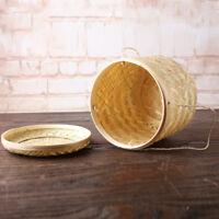 Panier De Rangement En Bambou Paniers à Thé à Main Boîte Grains De Café