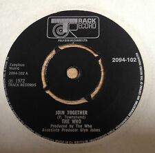 SP 45 tours UK The WHO Join together / Baby don't you do it 1972 EXC