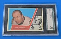 1963 TOPPS BOB TURNER HOCKEY CARD #32 ~ SGC 80 (6) ~