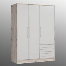 Kleiderschrank Jupiter Schlafzimmerschrank Schrank in Sandeiche und weiß 145 cm