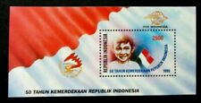 Indonesia 50th Anniversary Independence 1995 Flag Children (miniature sheet) MNH