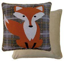 GRIS VERT ORANGE BLANC TARTAN FOX TAPISSERIE HOUSSE DE COUSSIN