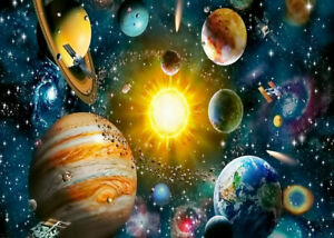 Colorful Universe Solar System 1000 Pcs Jigsaw Puzzle Adult Kid Educational Toys