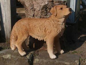 Retriever Labrador Deko Figur Gartenfigur wetterfest Hund Neu