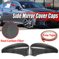 Carbon Fiber Add-On Side Mirror Cover Caps For 2013-17 Lexus GS350 GS450H  A!!