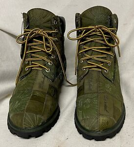 TIMBERLAND LiMITED EDiTiON RARE PATCHWORK BOOTS SIZE 13