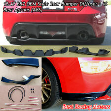 Factory Style Rear Diffuser (ABS) + STi tS Rear Aprons (ABS) Fit 12-18 BRZ