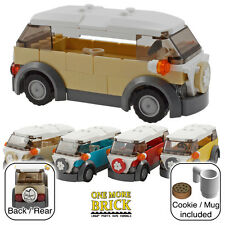 LEGO Camper Van - VW style holiday camper - Tan / Sand (other colours available)