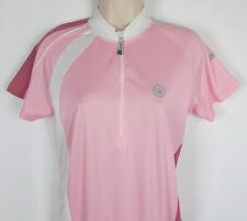 Canari Cycling jersey cyclist shirt short sleeve ½ zip Pink Womens Size L