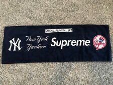 SUPREME X NEW YORK YANKEES HAND TOWEL NAVY BLUE X 47 BRAND SS15 2015 BOX LOGO