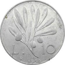 Italia Italy 10 Lire 1950 KM#90 Ulivo -Pegasus (it-15)