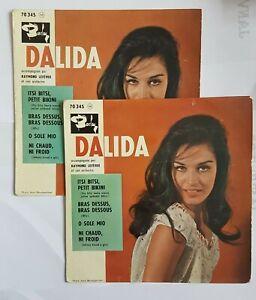 DALIDA ♦ LOT DE 2 x EP TIRAGES DIFFERENTS ♦ ITSI BITSI, BIKINI (voyez détails)