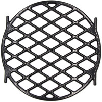 "BBQ Sear Grate 12"" Enamel Cast Iron Round Grid for 22.5"" Weber Charcoal Grill"