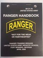 US Army Rangers Handbook pocket-size lanyard holes