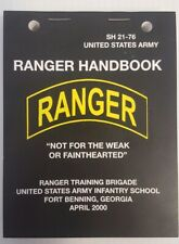 Five Pack US Army Rangers Handbook pocket-size lanyard holes.