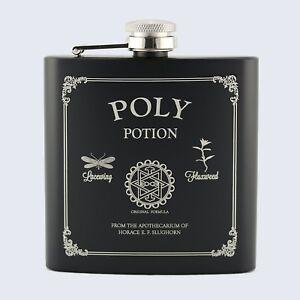 POLY POTION, PolyJuice POTION Style, Harry Potter Inspired, 6oz Drinks Hip Flask