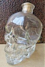 Vintage Skull Head 750 ml CRYSTAL HEAD Vodka EMPTY BOTTLE halloween COLLECTION