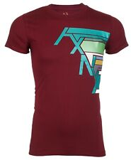 Armani Exchange Mens S/S T-Shirt AN-04 Designer BURGUNDY Casual S-2XL $45