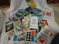 Vtg 60s 90s Gas Station ROAD MAPS Esso Shell Texaco Standard AAA Lot of 76