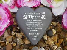 Dog Memorial - Floral Heart - Weatherproof & Personalised - Paw Prints