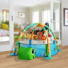 Erlebnisdecke Krabbeldecke Spielbogen Spielmatte Bällebad Gymcenter mit 30Bällen