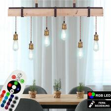 RGB LED Péndulo Lámpara Colgante Salón Madera Viga de Techo Control Remoto