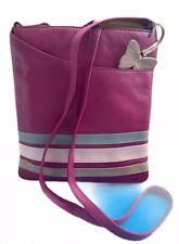 Women's PINK Crossbody Messenger Shoulder Bag Medium Size Faux Leather