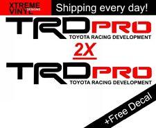 "Set 2-20""x3"" TRD PRO Racing Development Toyota Tacoma Truck Vinyl Bed Side Decal"