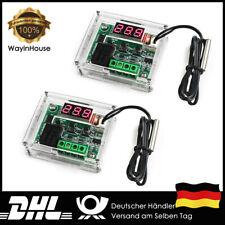 2x W1209 DC 12V Thermostat Schalter Thermometer Modul Sensor Sonde mit Case