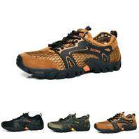 Mens Outdoor Hiking Breathable Sneakers Hollow Out Climbing Casual Shoes Summer
