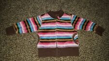 BABY GAP Woodsy Treehouse Striped Velour Jacket HARD TO FIND 12 18 months