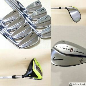 Nike Tiger Woods Limited Edition Set 3~P + 56' 60' Wedges +TW Driver (11x Pcs)