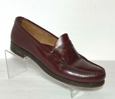 Vtg GH Bass WEEJUNS Penny Loafer Burgundy Leather Womens Size 8.5 AA Wilton ME