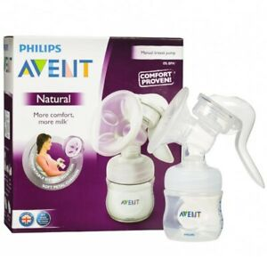 Phillips Avent Manual Natural Breast Pump New
