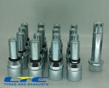 set of 16 * M12x1.25mm 12x1.25 Alloy wheel wobbly tuner bolts + tuner key