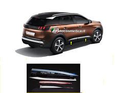 4 modanature Profili in Acciaio Cromo Sagomate Protezioni Porte Peugeot 3008