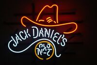 "17""x14""Jack Daniels Old No.7 Cowboy Neon Sign Light Beer Bar Pub Wall Deocr Gift"